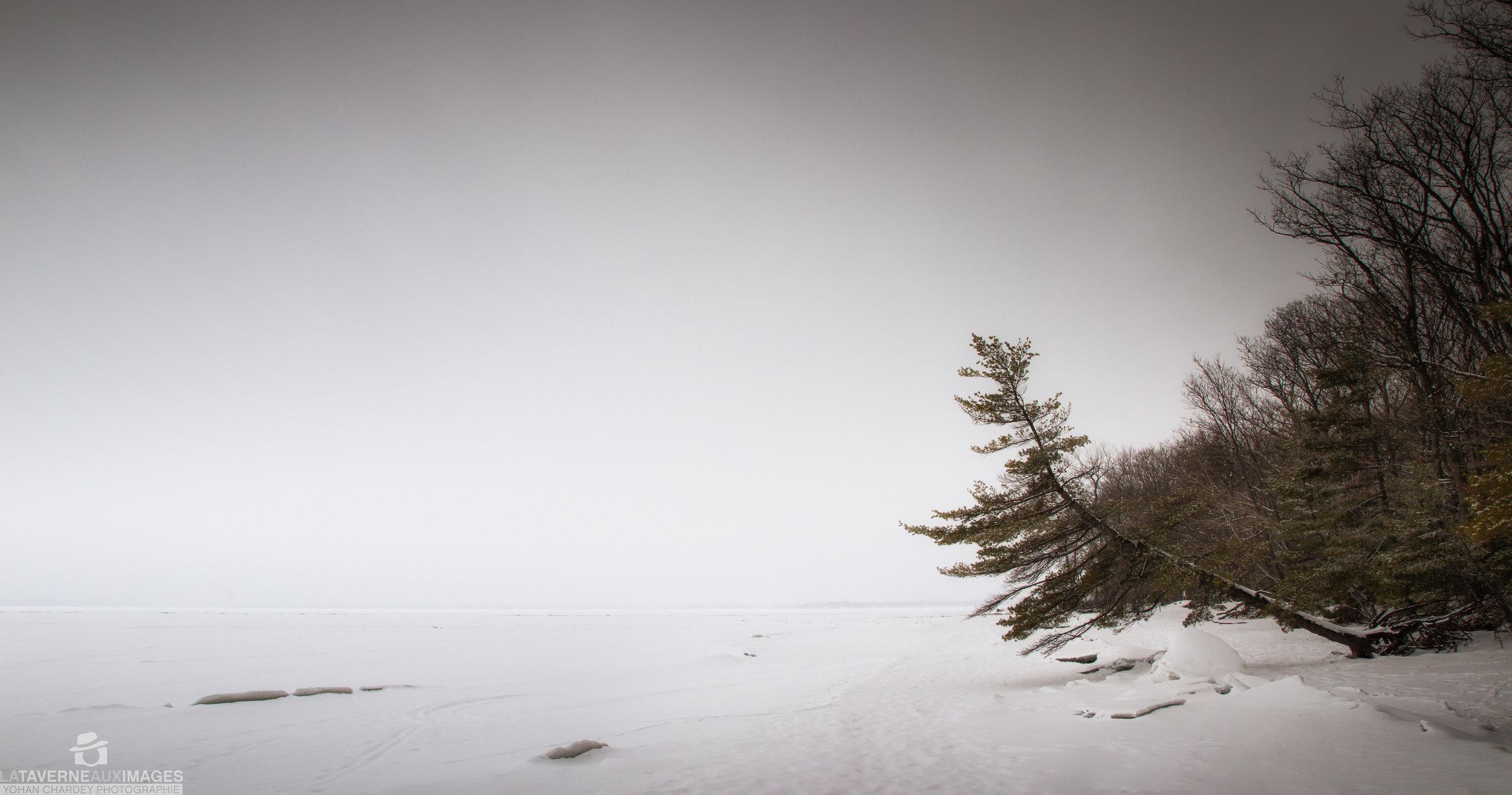Lac gelé au Québec