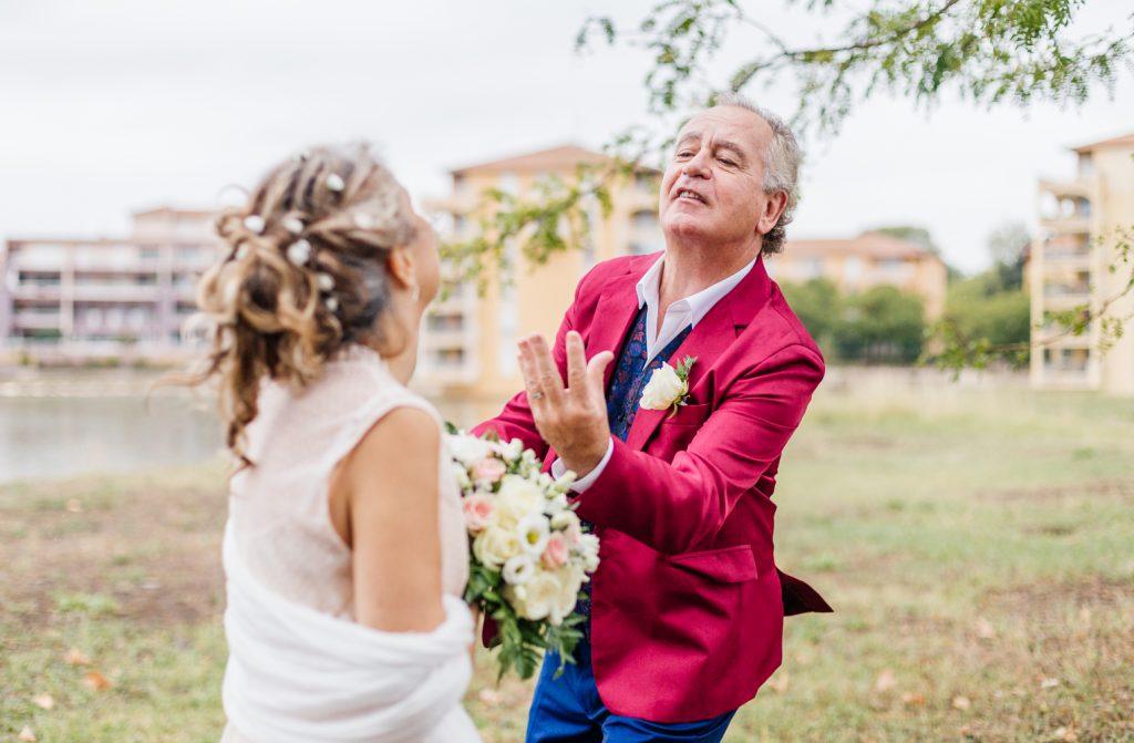Couple de mariés à Lattes